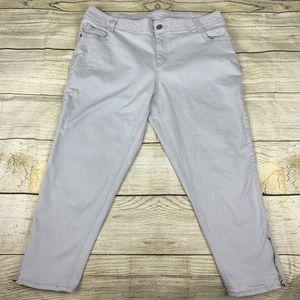 Lane Bryant Light Gray Crop Capri zipper Jeans